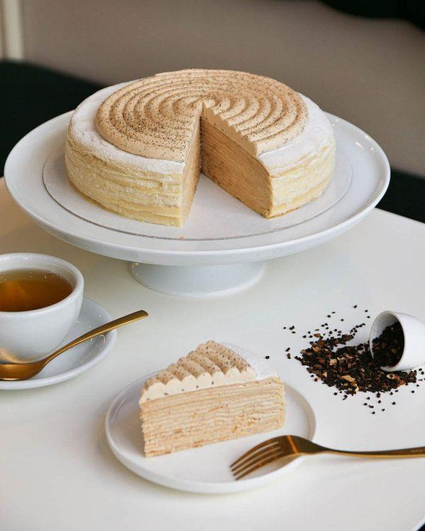 Mille-crêpes chai, notre gâteau de crêpes