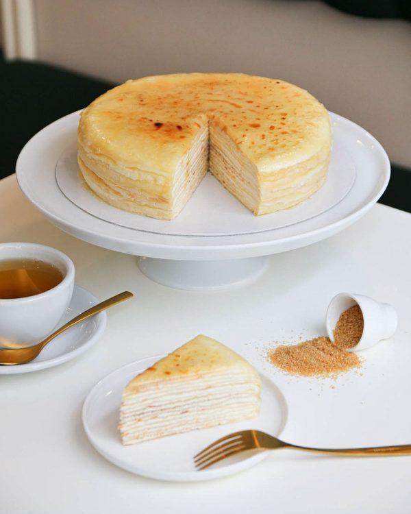 Mille-crêpes nature, notre fameux gâteau de crêpes
